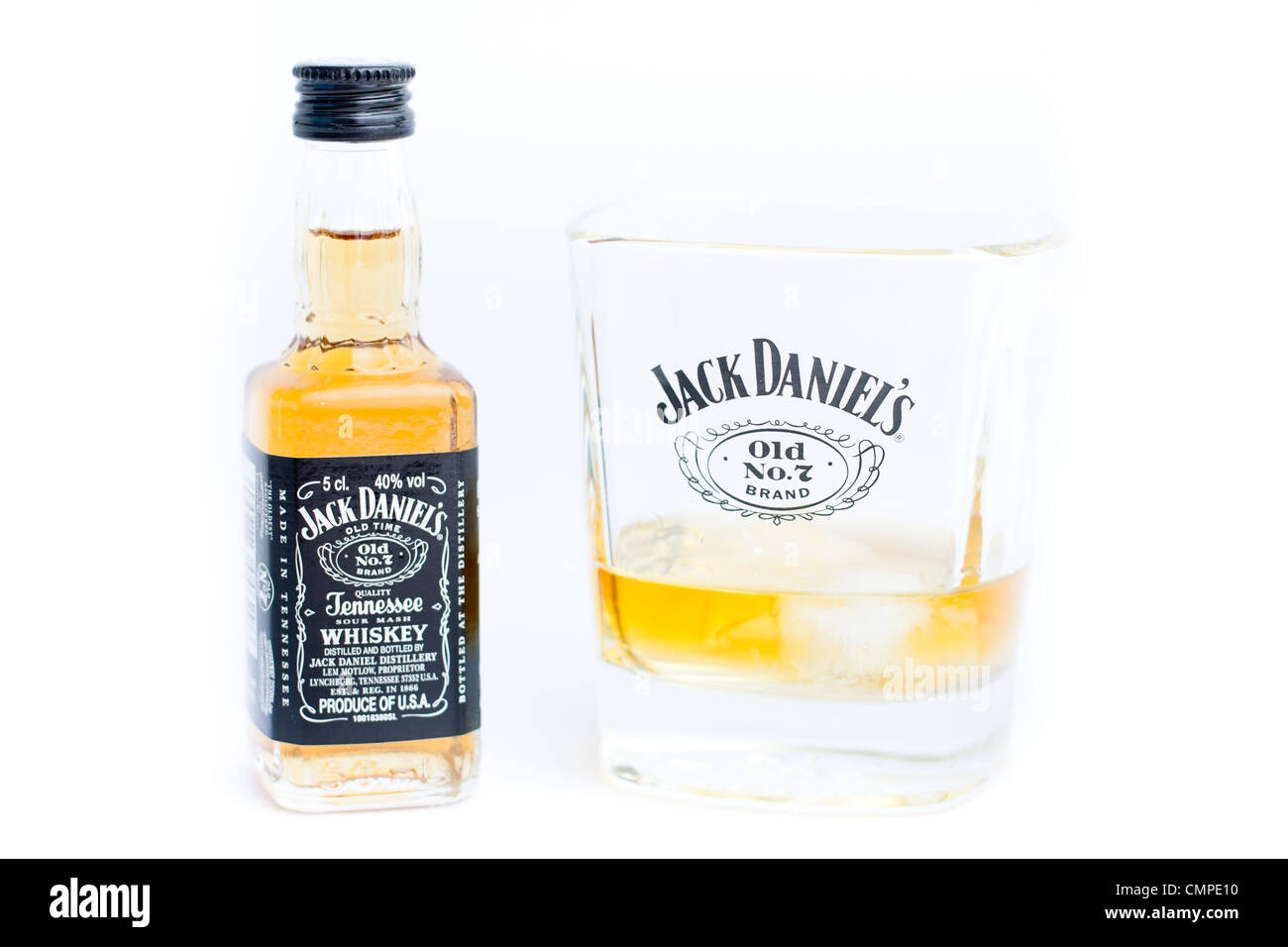 29c0204a3586d A miniature Jack Daniels bottle and glass of whiskey. Jack Daniels Old No. 7