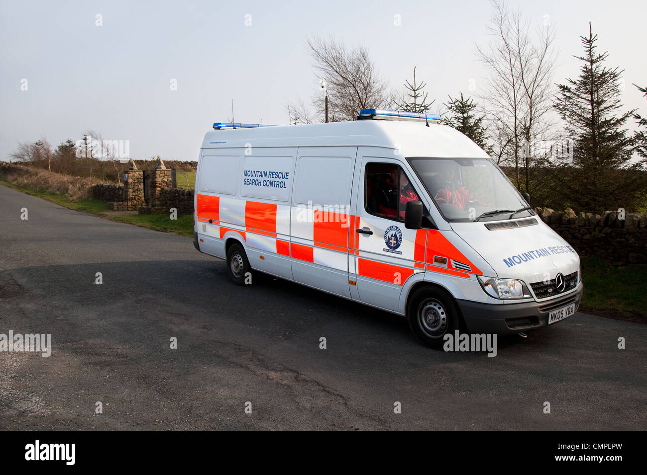 Mountain Rescue Search Control_The Bowland Pennine Mountain Rescue Team, Chipping Hill, Lancashire, UK - Stock Image