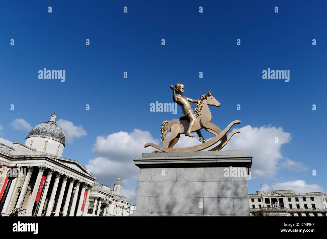 Powerless Structures Fig 101, the 2012 statue on Trafalgar Square's Fourth Plinth - Stock Image
