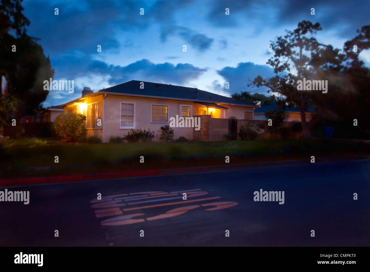House, Culver City, Los Angeles, California, USA - Stock Image