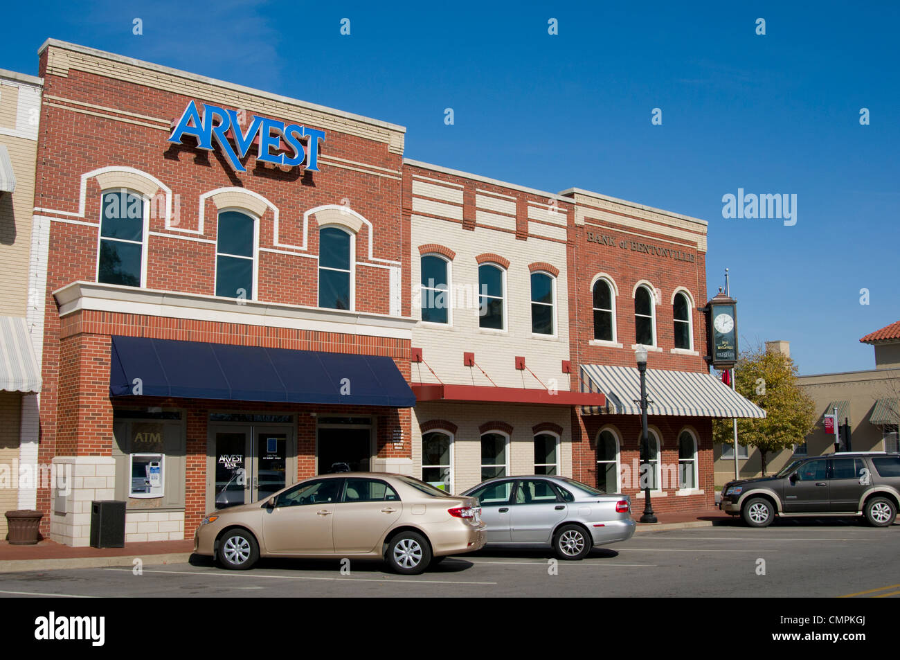 Arvest Bank on the town square in Bentonville, Arkansas