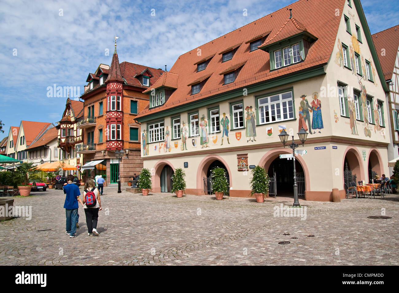 Marketplace in Haslach, baden-wurttemberg; , Germany - Stock Image