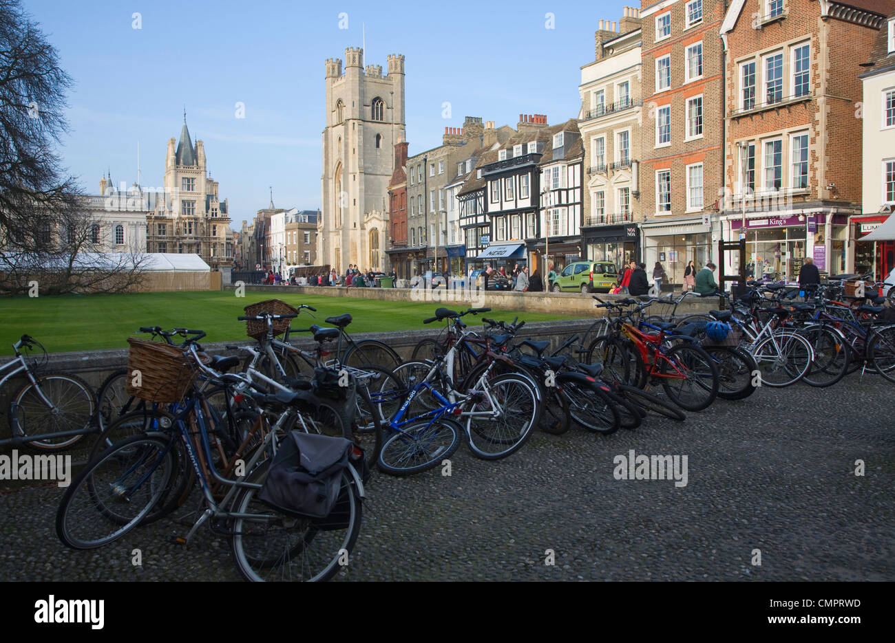 View of King's Parade, Cambridge, England - Stock Image