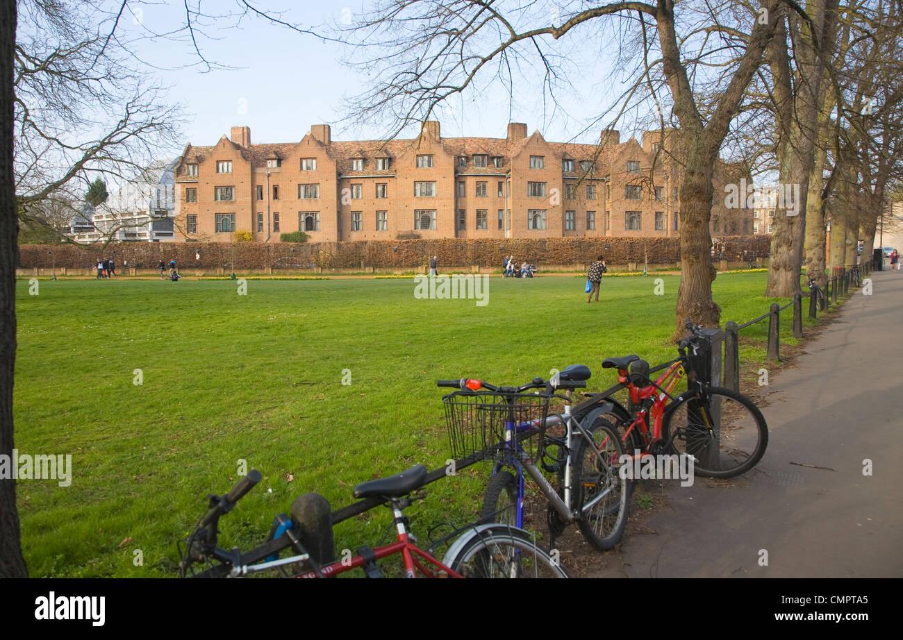 Queens' College, University of Cambridge, England - Stock Image