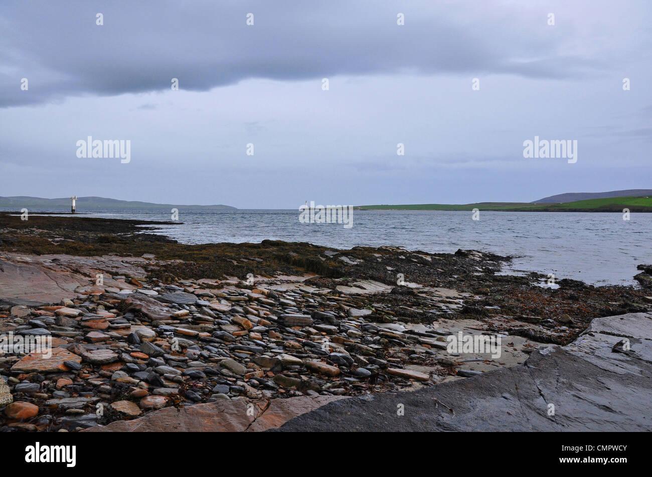 Coastline of the Mainland Island, Orkney, Scotland. - Stock Image