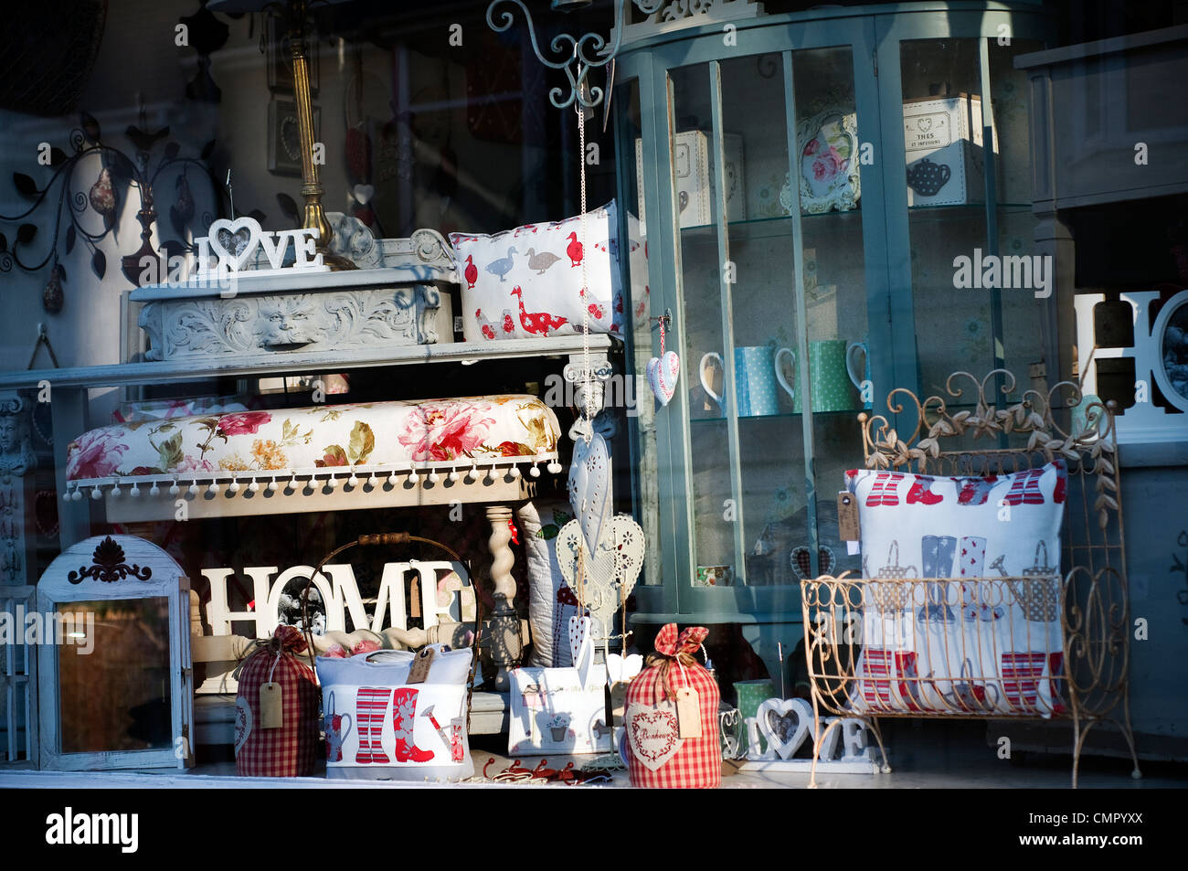 home,natural touch,stylish ideas,interiors,showcase,shop window - Stock Image
