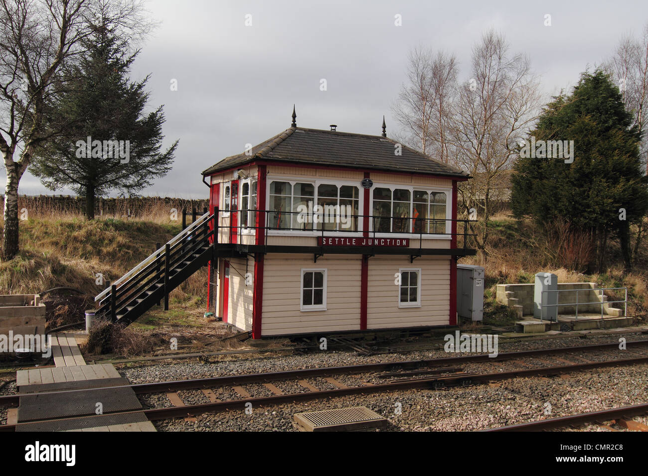 railway signal box - Stock Image