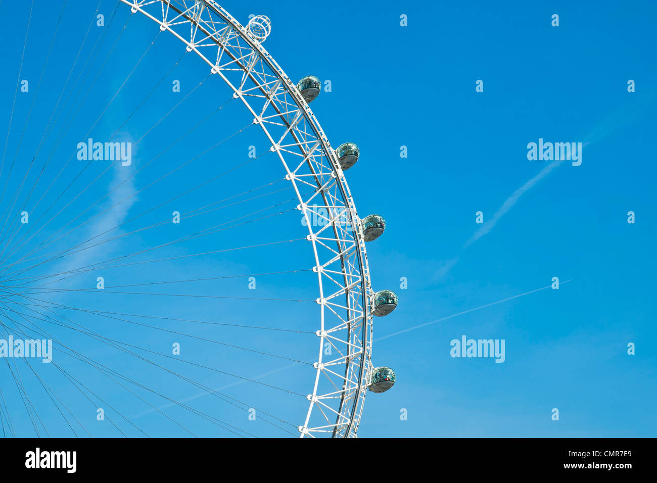London Eye, Ferris Wheel,  London, U.K. - Stock Image
