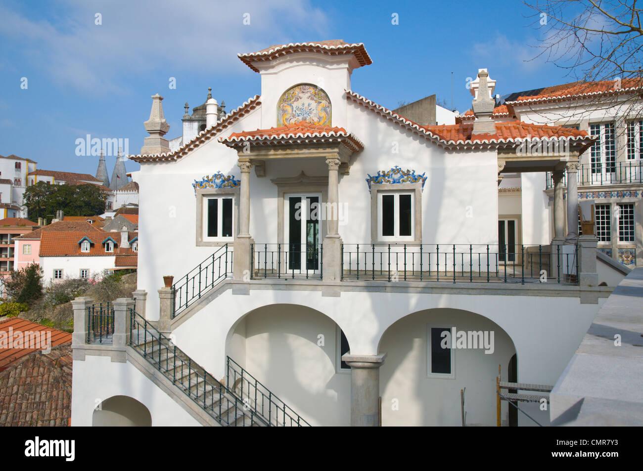 Mansion being refurbished Sintra Portugal Europe - Stock Image