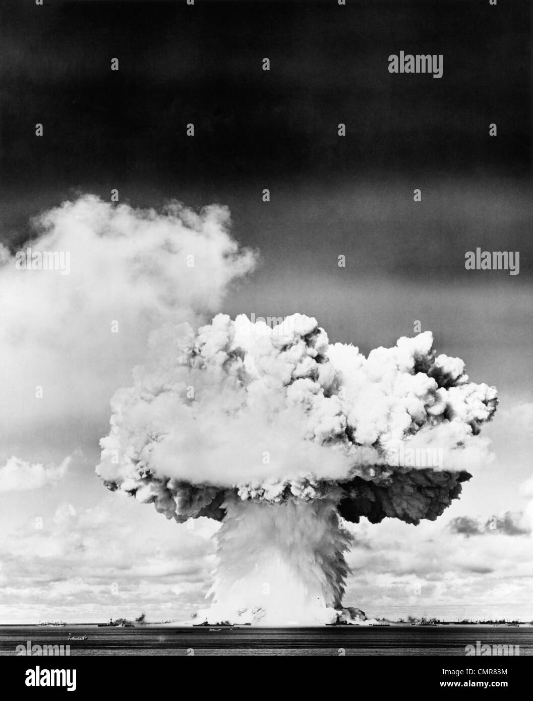1940s 1950s ATOMIC BOMB EXPLOSION MUSHROOM CLOUD Stock Photo