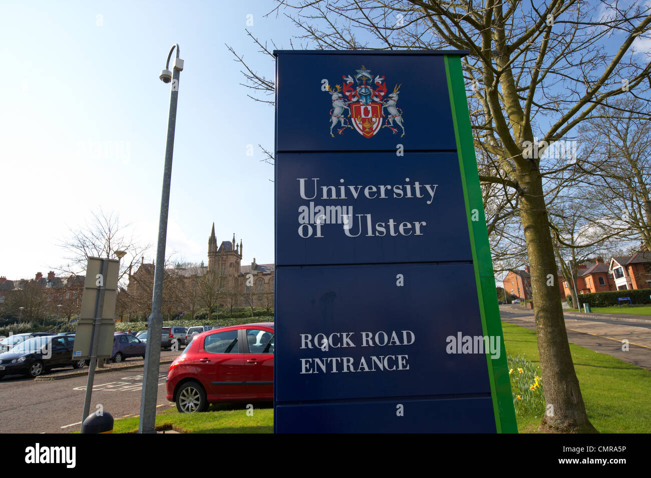 rock road entrance to the University of Ulster magee in Derry city county londonderry northern ireland uk. - Stock Image