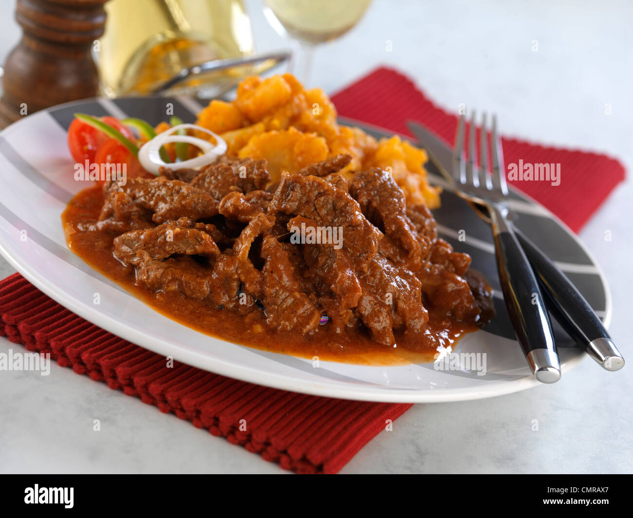 Stew with pepper Stock Photo