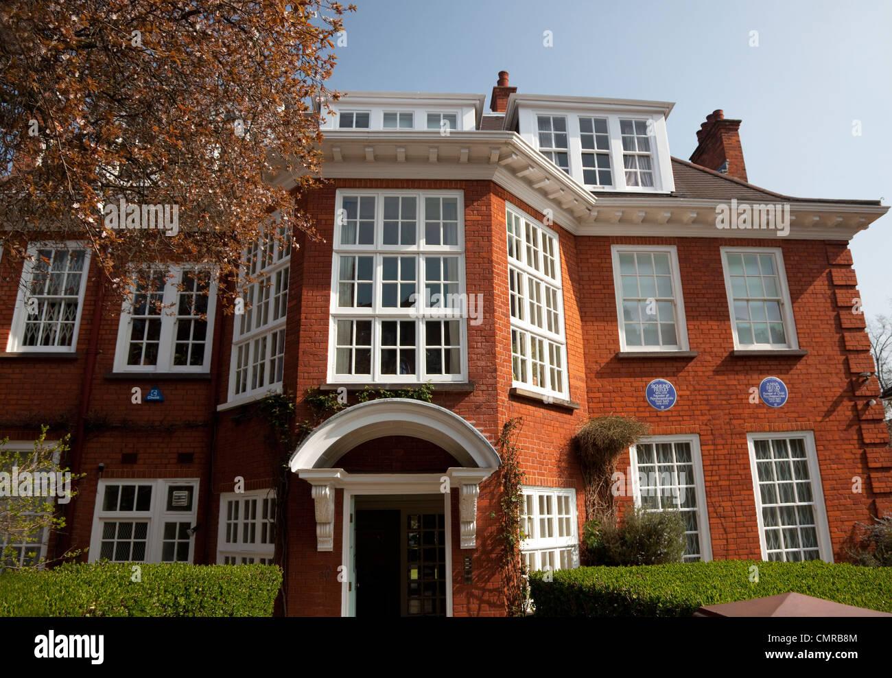 Freud Museum, Hampstead, London (former home of Sigmund Freud) - Stock Image