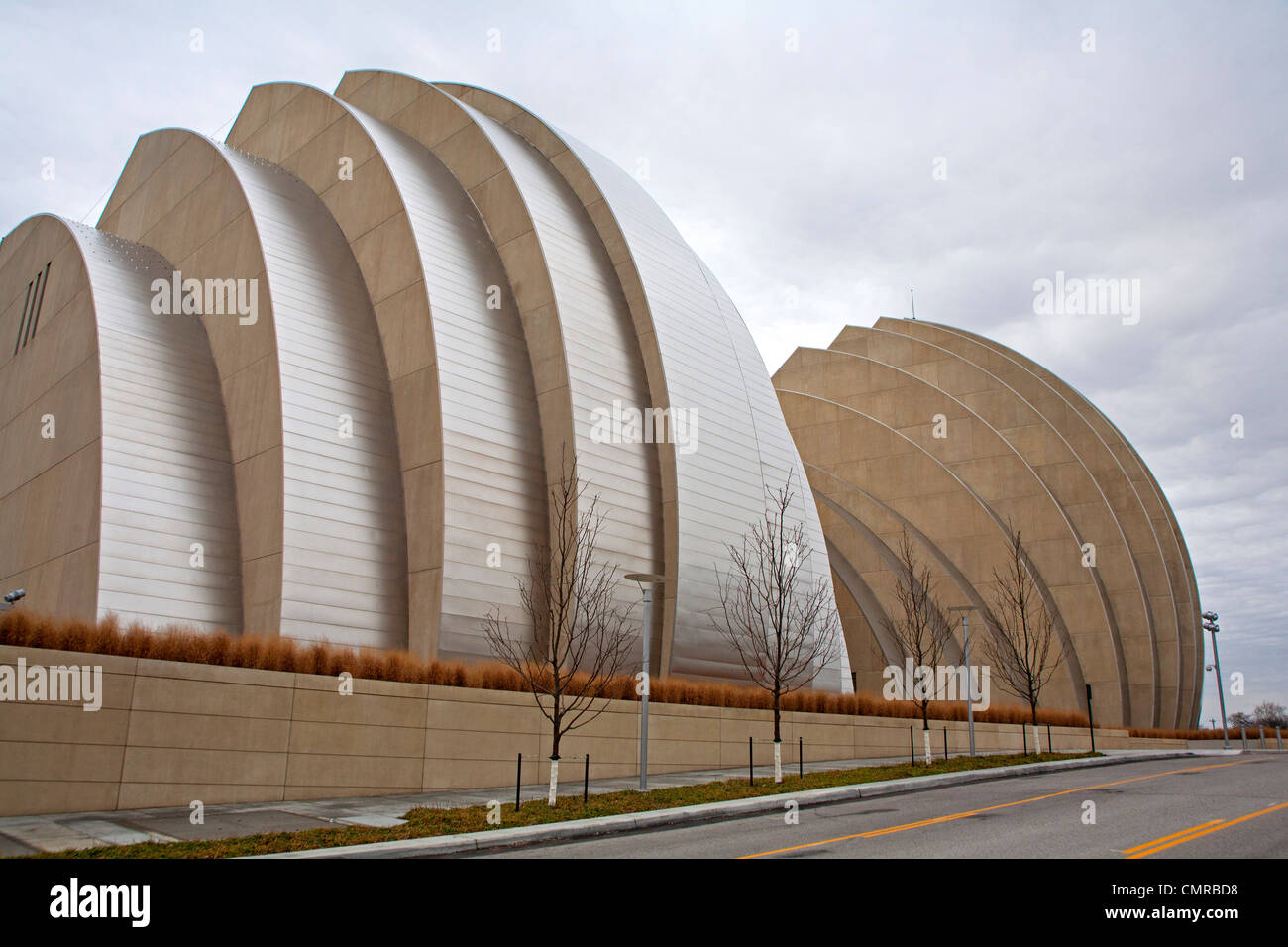 Kauffman Center for the Performing Arts in Kansas City, MO - Stock Image
