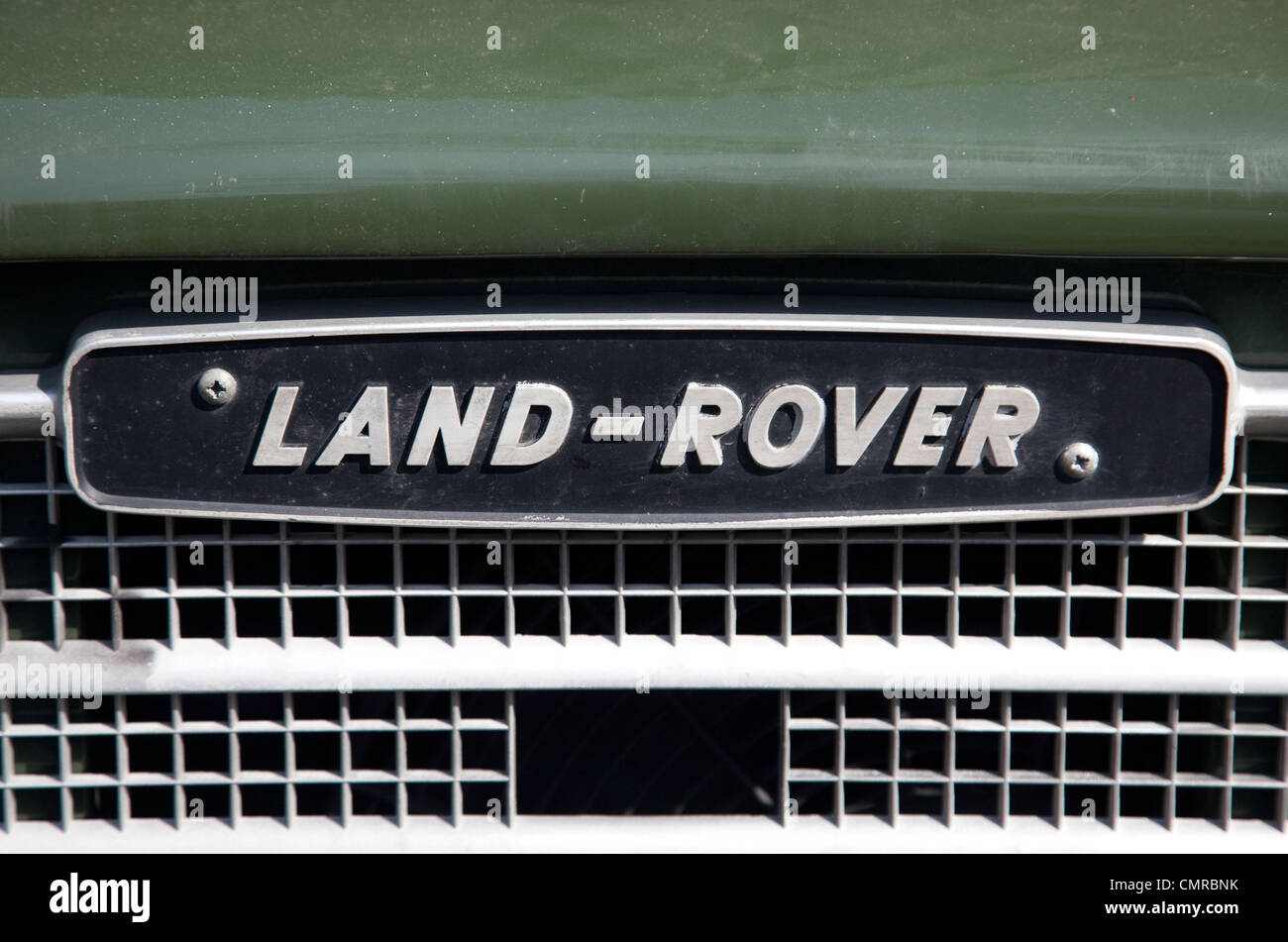 Badge on Land-Rover, London - Stock Image
