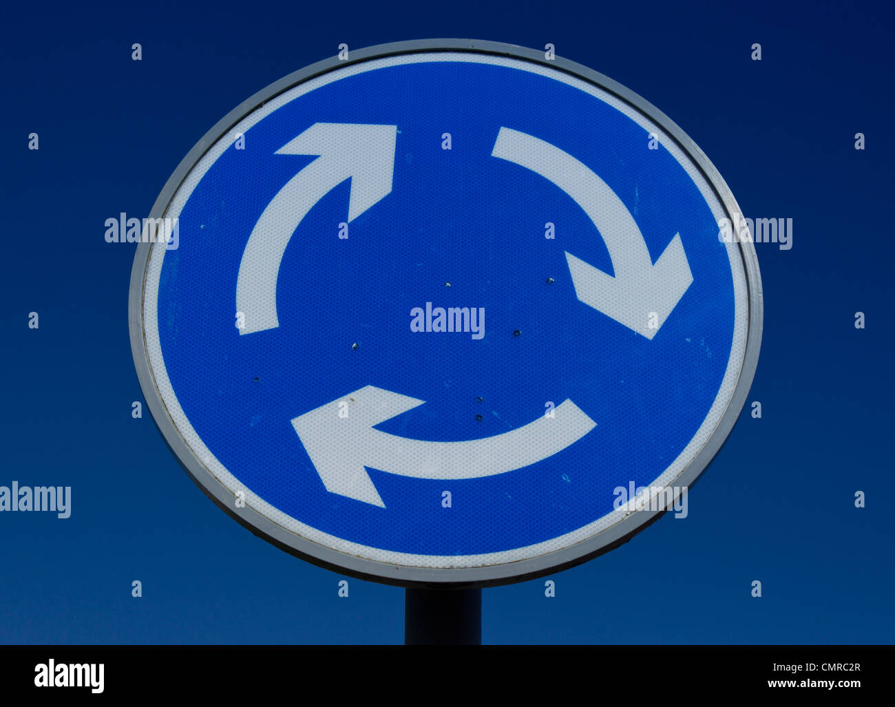 Roundabout street sign - Stock Image