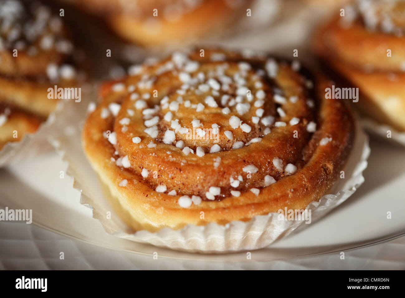 Korvapuusti, the popular Finnish pastry, served in Tampere, Finland. - Stock Image