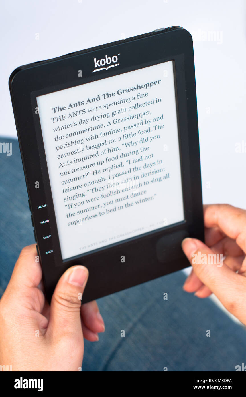 Kobo e-book. - Stock Image