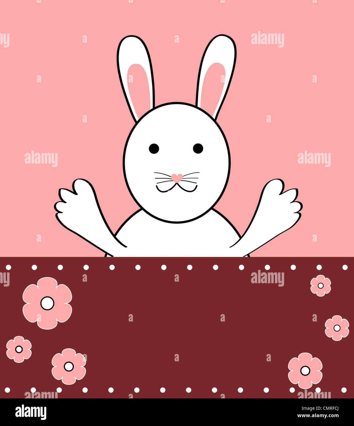 Bunny rabbit cartoon illustration Stock Photo