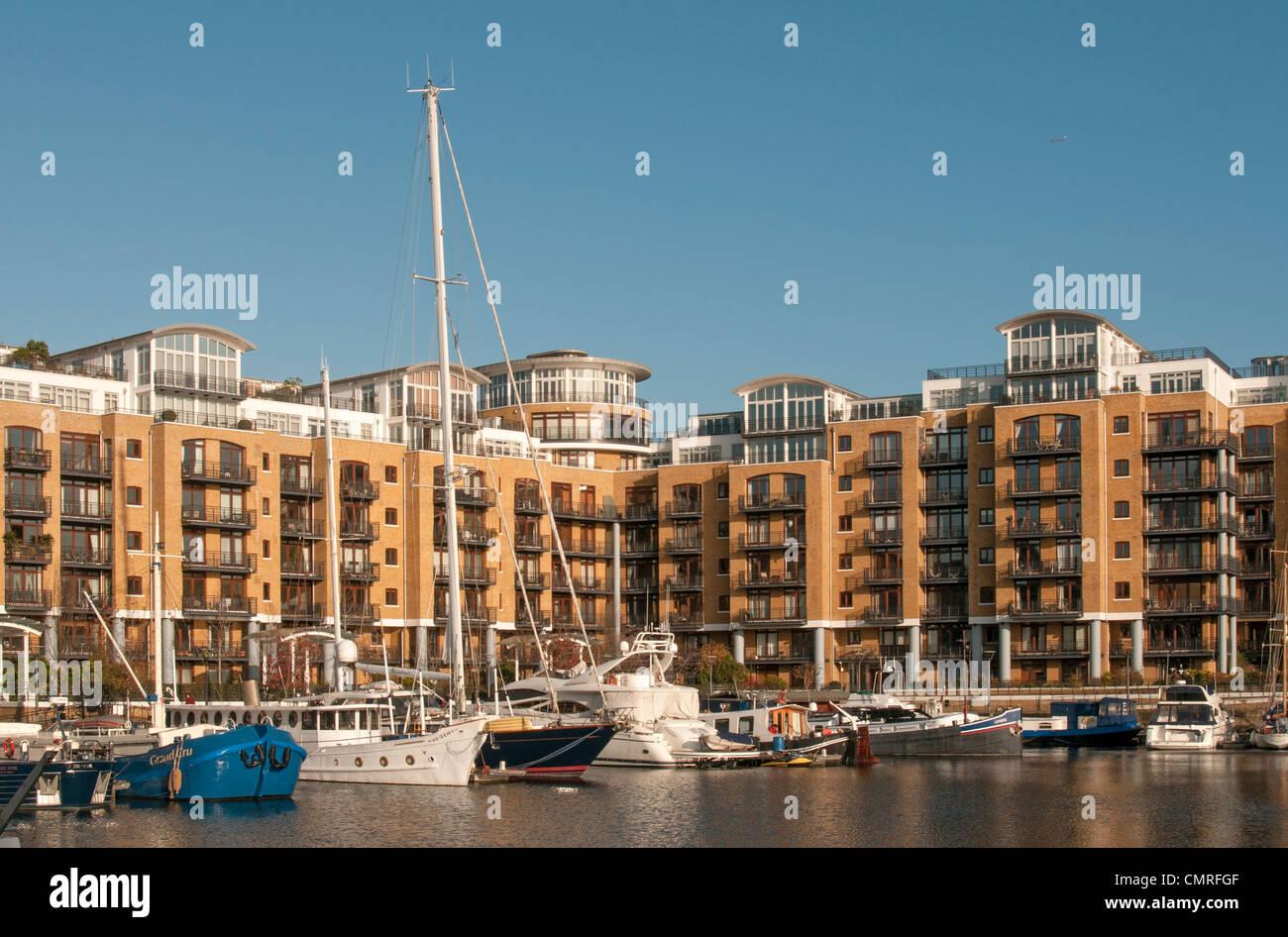 St Katharine Docks, London - Docklands, England, UK - Stock Image