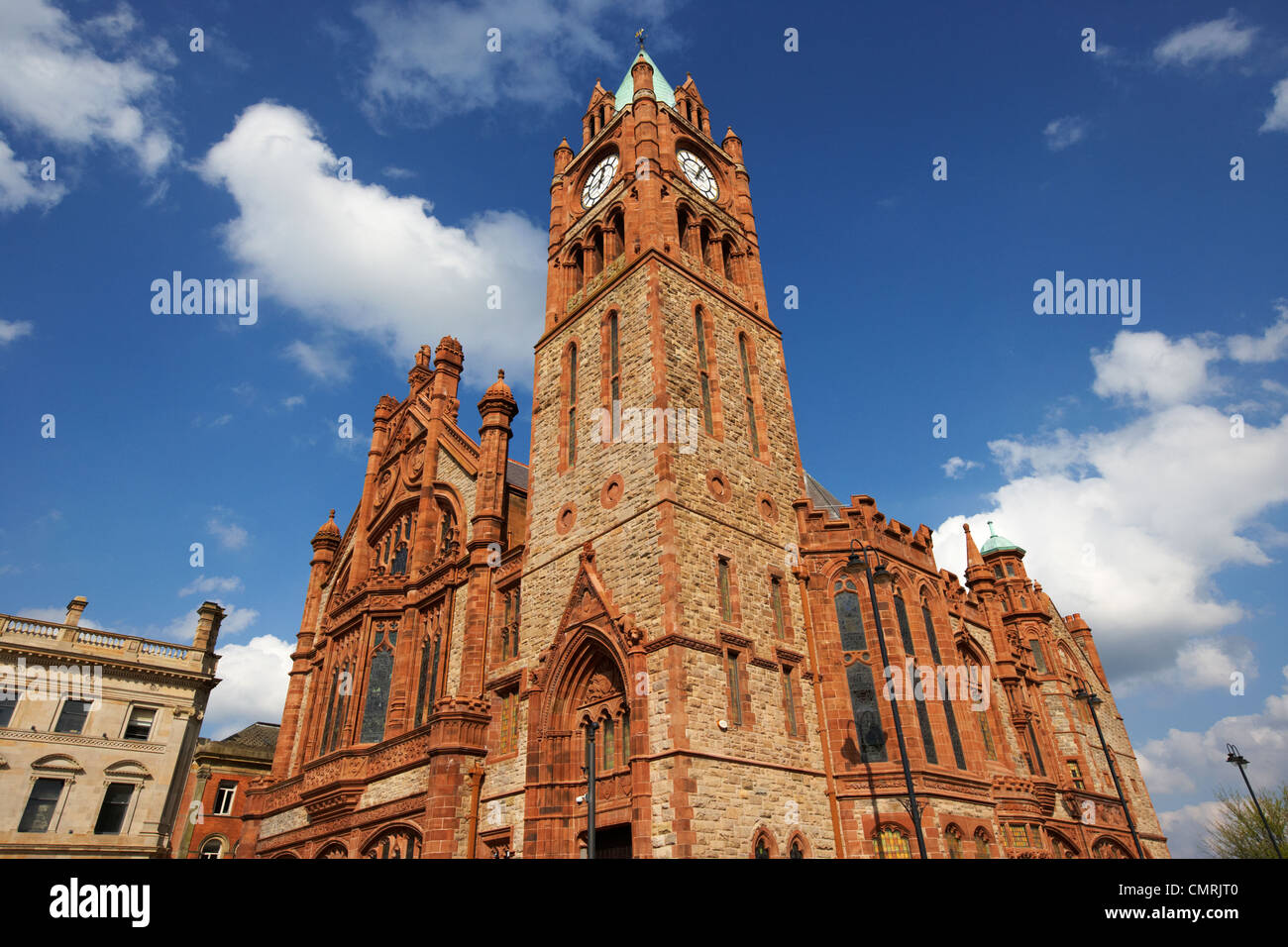 The Guildhall Derry city county londonderry northern ireland uk. - Stock Image