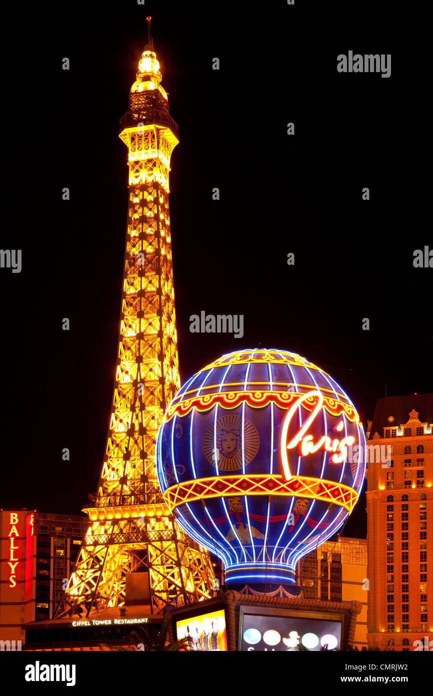 The Paris Hotel, Las Vegas Nevada, USA - Stock Image