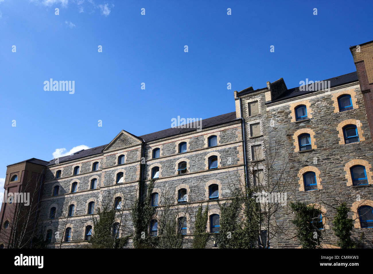 rock mills former flour mills building converted to student accommodation use in Derry city county londonderry northern - Stock Image
