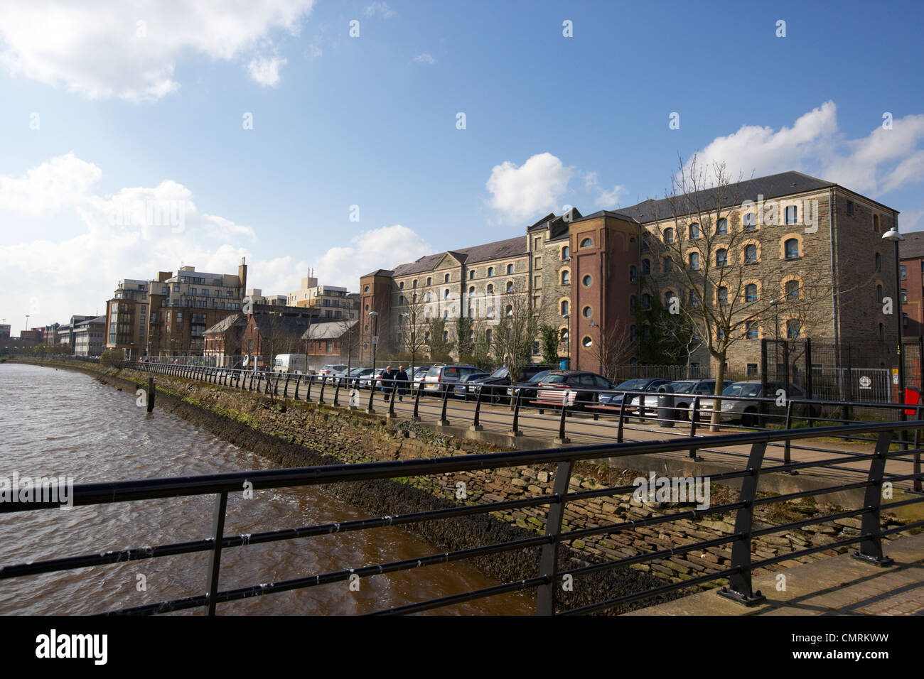 rock mills by the river foyle former flour mills building converted to student accommodation use in Derry city county - Stock Image