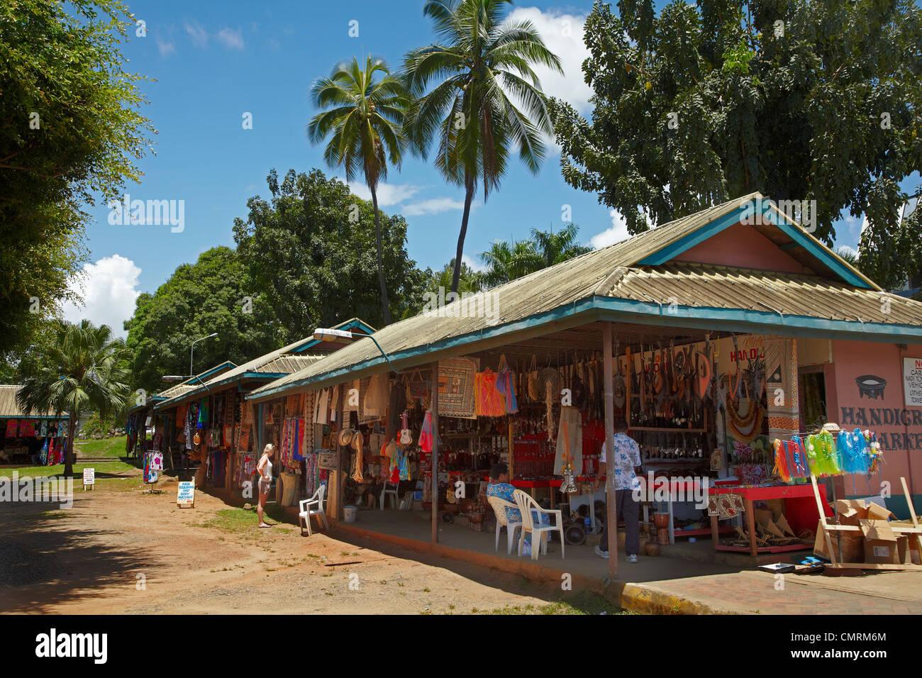Nadi Handicraft Market, Nadi, Viti Levu, Fiji, South Pacific - Stock Image