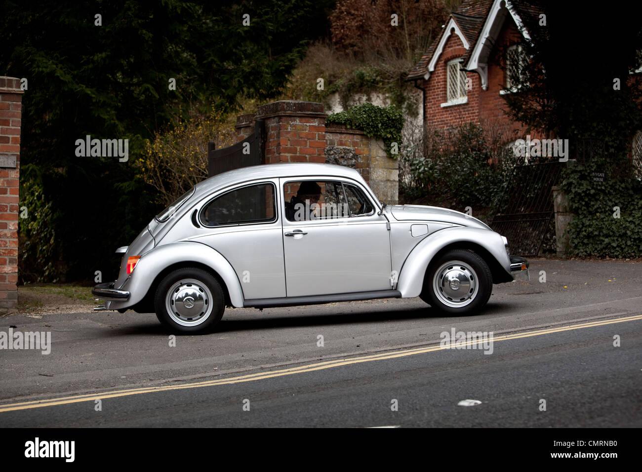 Volkswagen Beetle type 1 Side - Stock Image