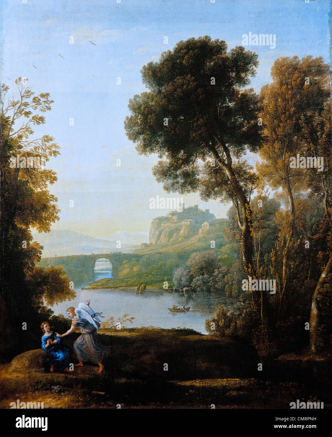 Claude Lorrain, Landscape with Hagar and the Angel, 1646 - Stock Image