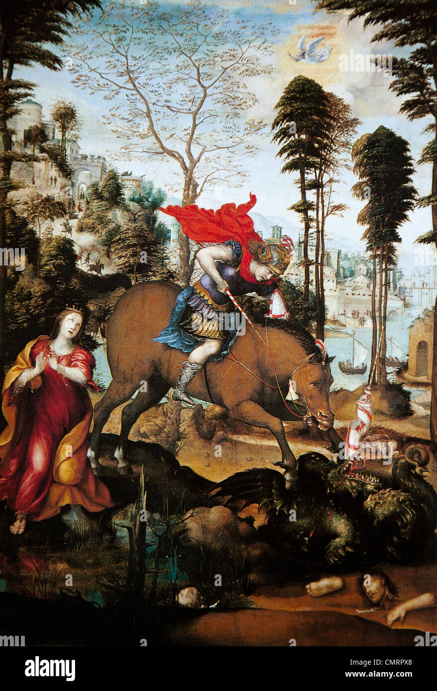 St George And The Dragon, Il Sodoma (Giovanni Antonio Bazzi), National Gallery of Art, Washington, DC, USA - Stock Image