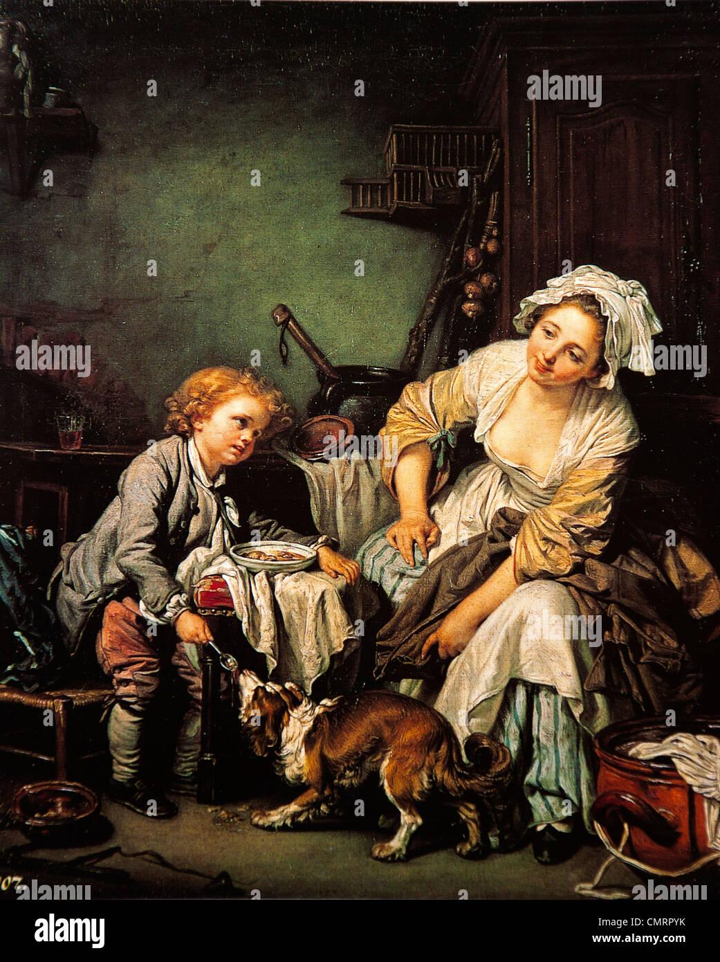 Jean-Baptiste Greuze, The Spoiled Child - Stock Image