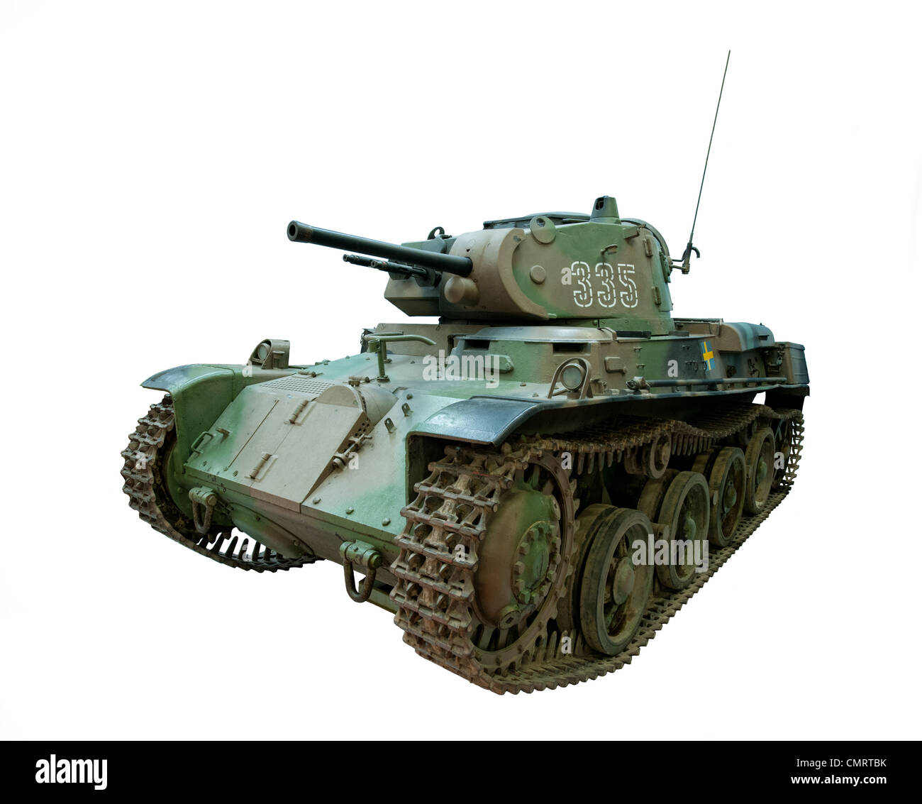 A cut out of a Stridsvagn M/40L Tank used by Swedish forces during WW2 - Stock Image