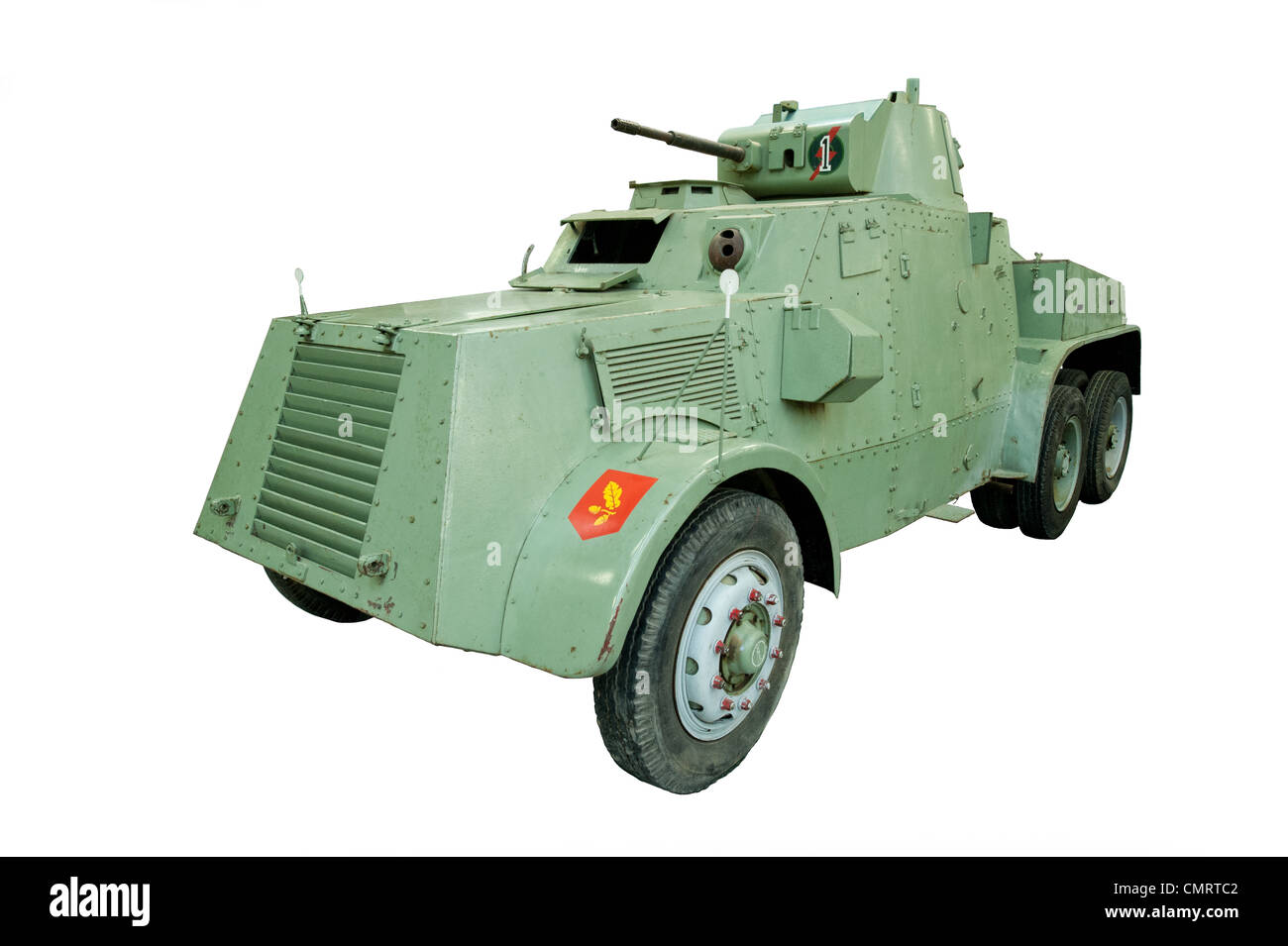 A cut out of a Leyland Armoured Car used by british & allied forces during WW2 - Stock Image