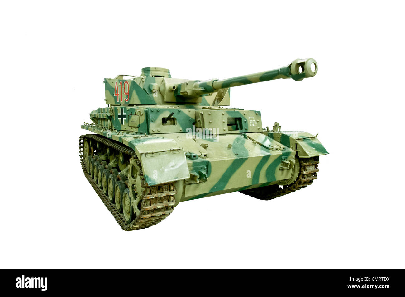A cut out of  Panzerkampfwagen IV Tank, used by Nazi German forces during WW2 - Stock Image