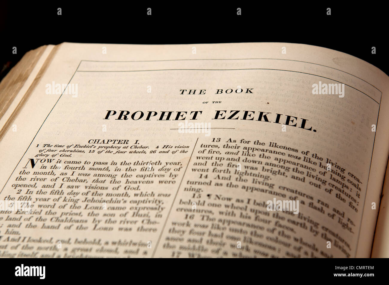 The Book of the Prophet Ezekiel in the Bible - Stock Image