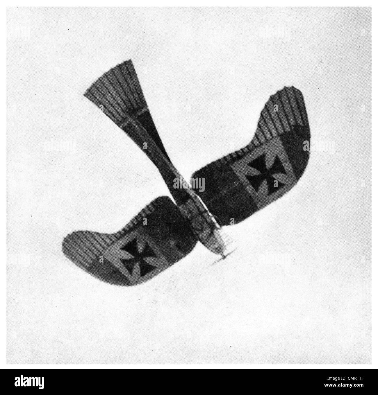 1918 Etrich Taube plane German Fighting monoplane aircraft tail aviation - Stock Image