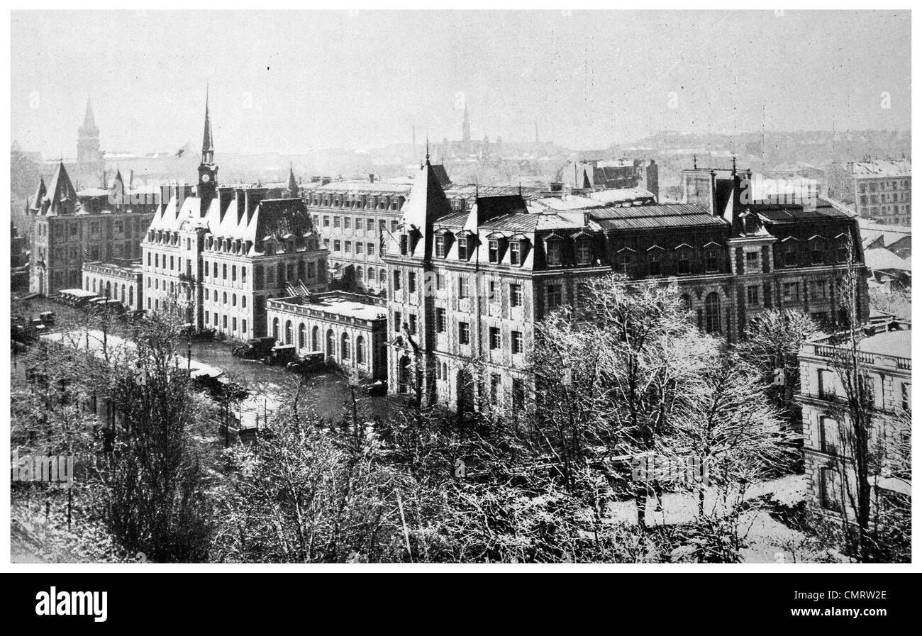 1918 US Military Hospital No 1 American Ambulance Hospital Paris France - Stock Image