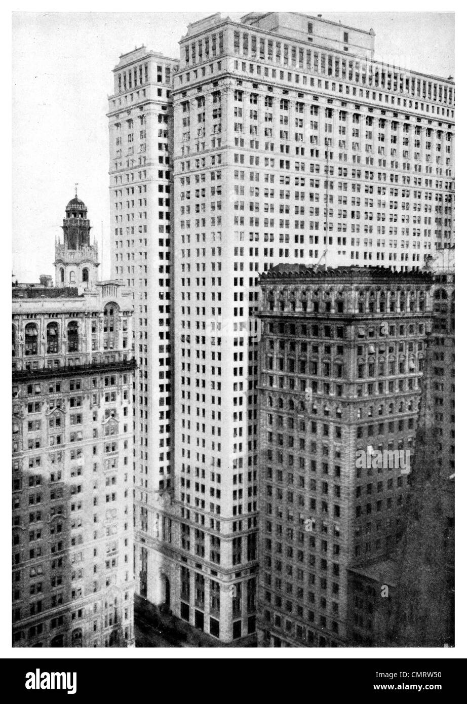 1918 The Equitable building office structure sky scraper New York - Stock Image