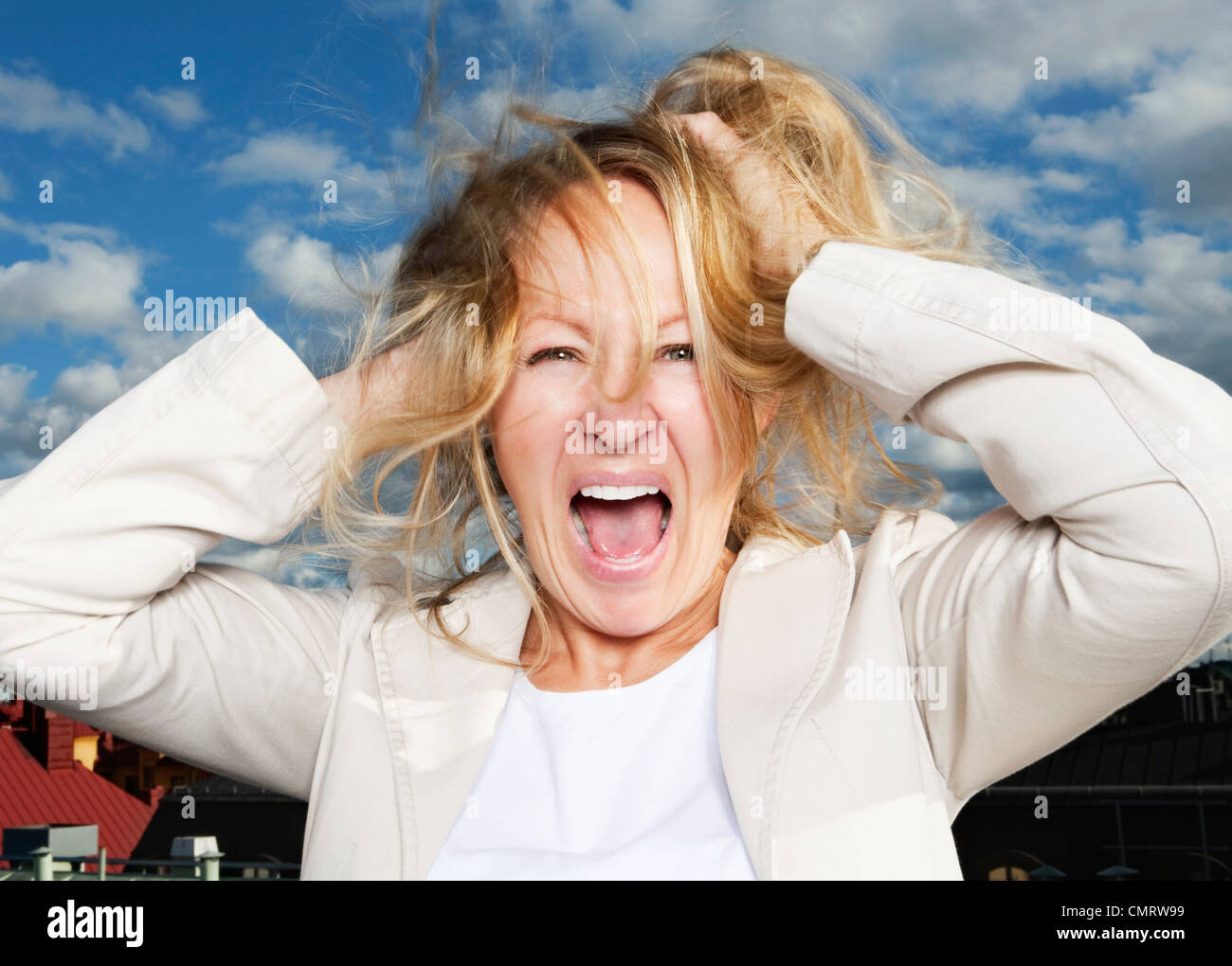 Crazy - Stock Image