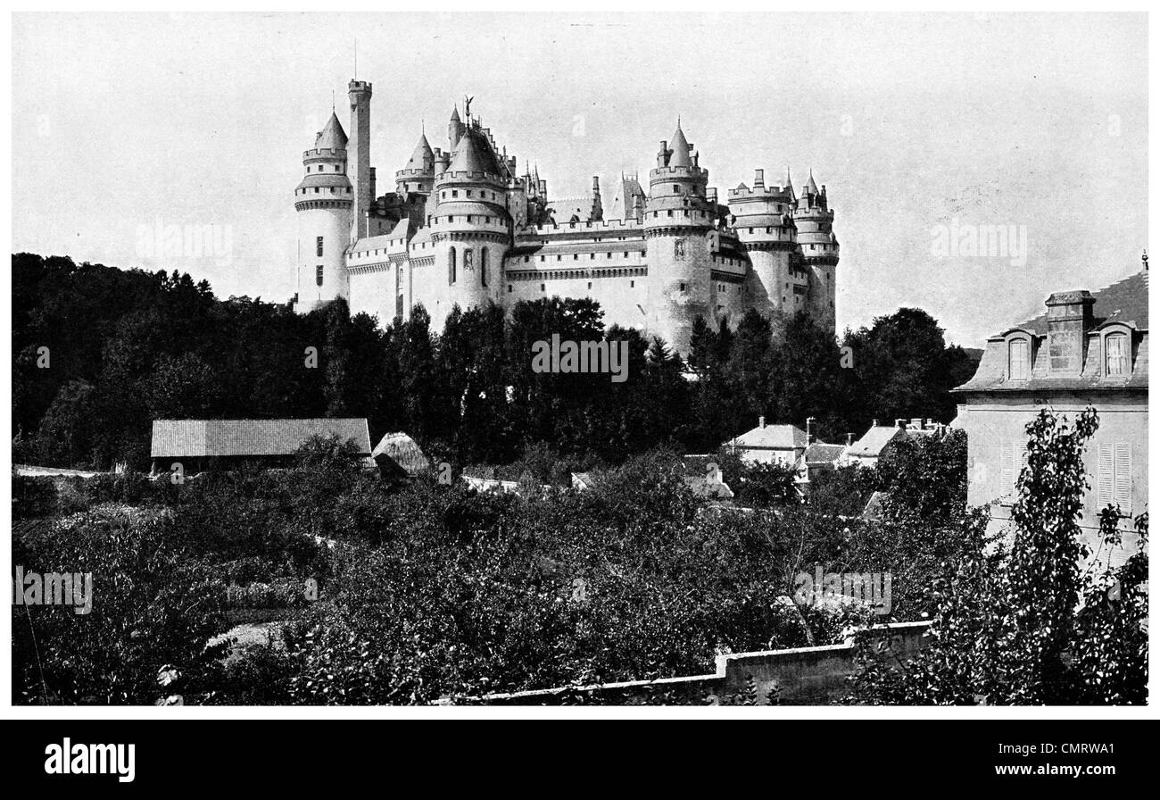 1918 Chateau Pierrefonds Northern France - Stock Image