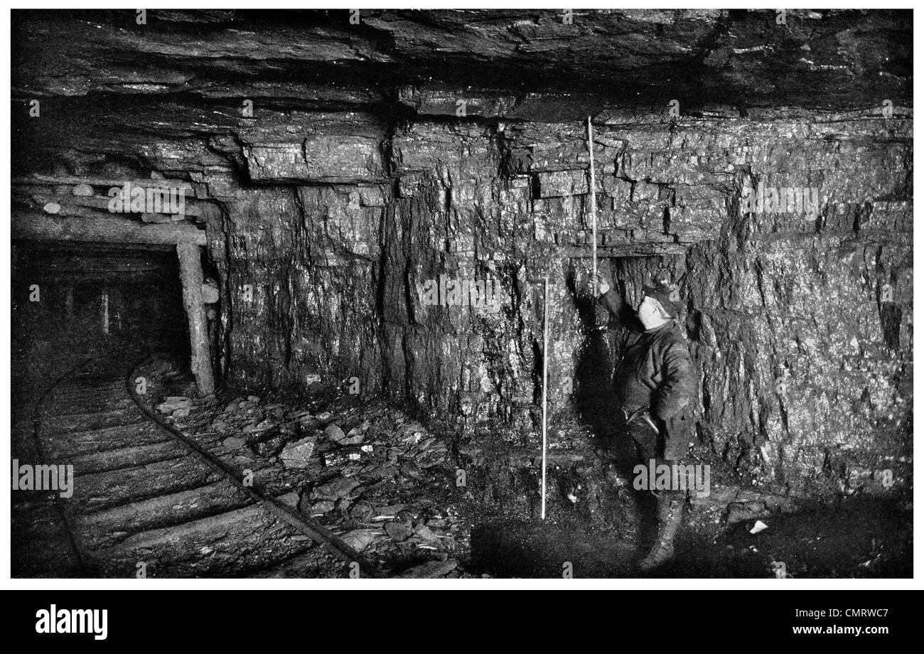 1918 coal mine  seam Cork and Bottle Mine Scranton Pennsylvania Stock Photo