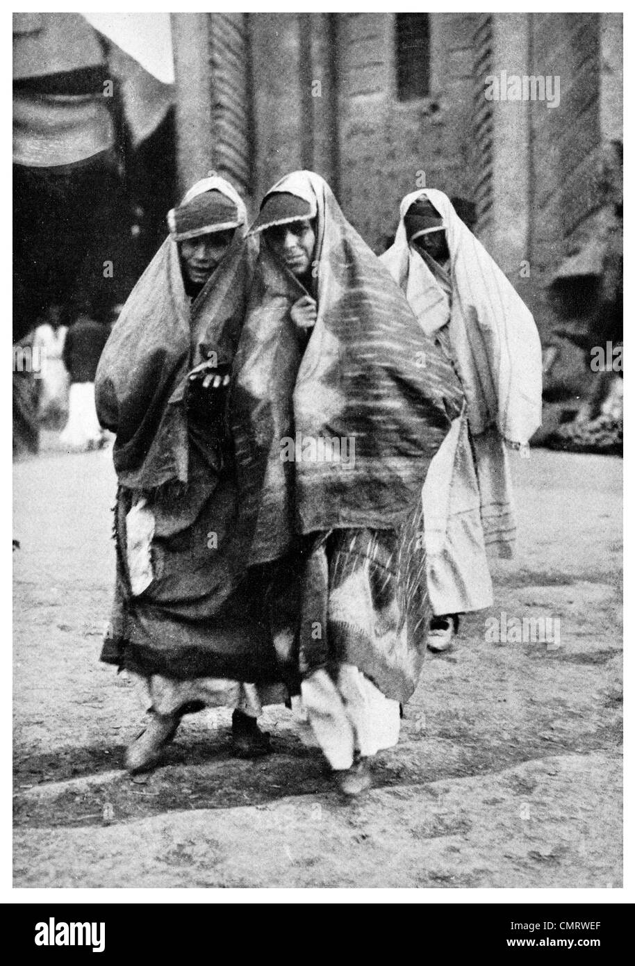1919 Jewish woman street of Baghdad Iraq - Stock Image