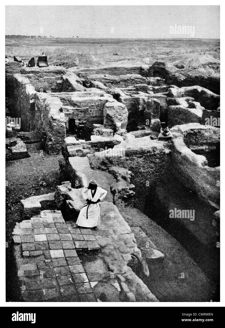 1919 Babylon excavation Iraq - Stock Image