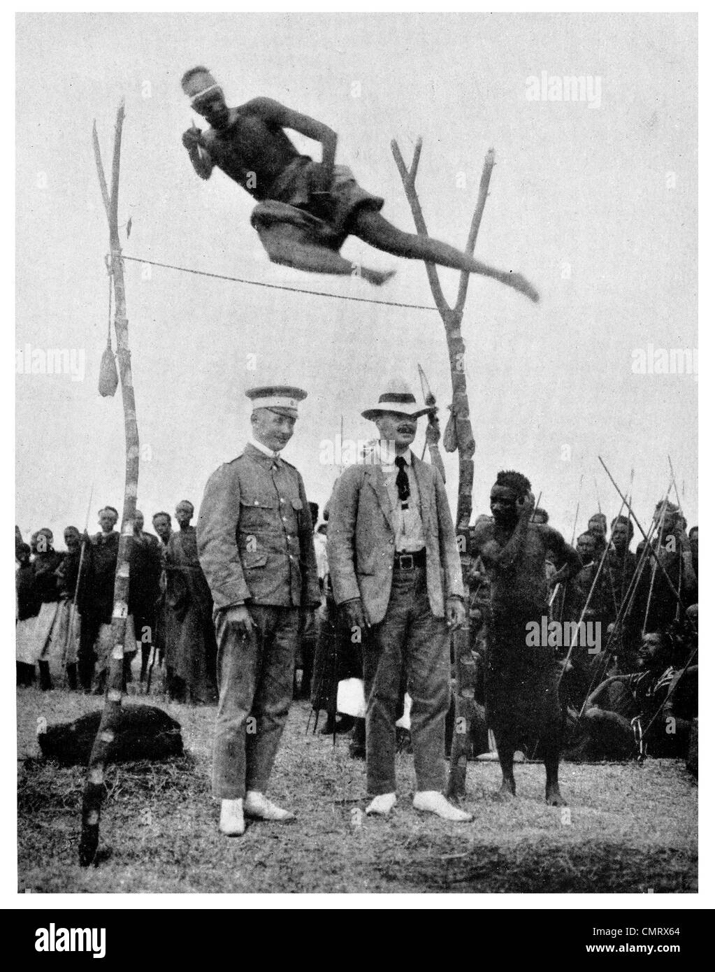 1919 East African High jump  8 ft 5 inches - Stock Image
