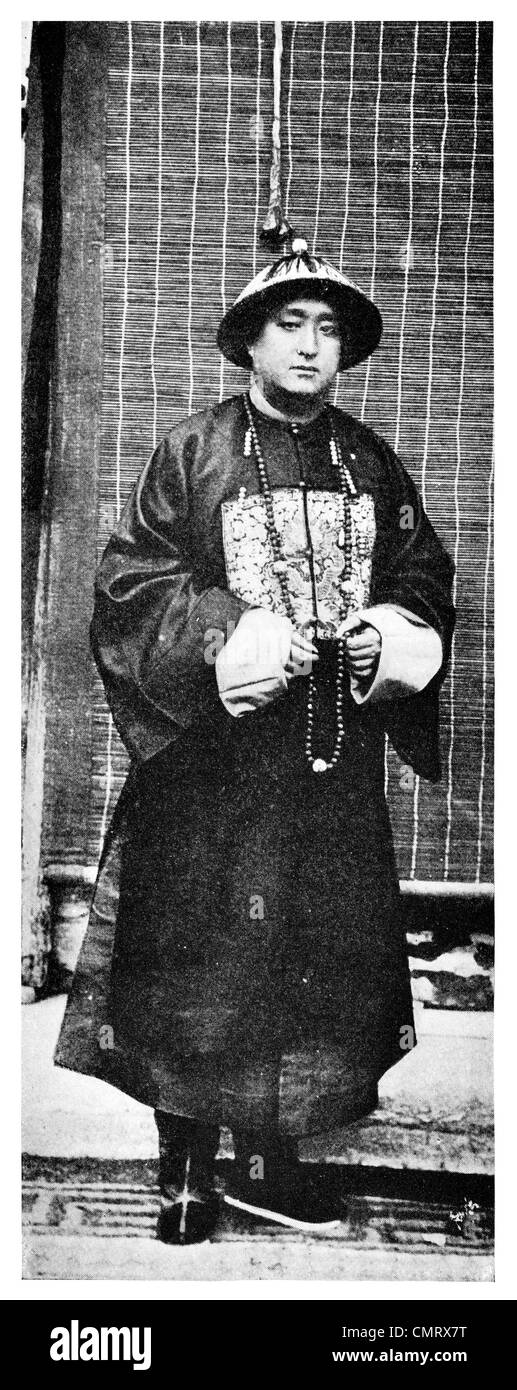 1919 Duke King the 76th descendant of Confucius Stock Photo