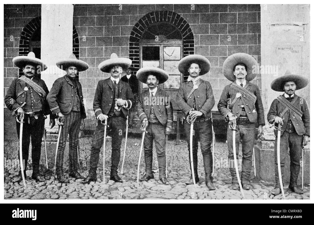 1919 Mexican armed men Old Regime - Stock Image