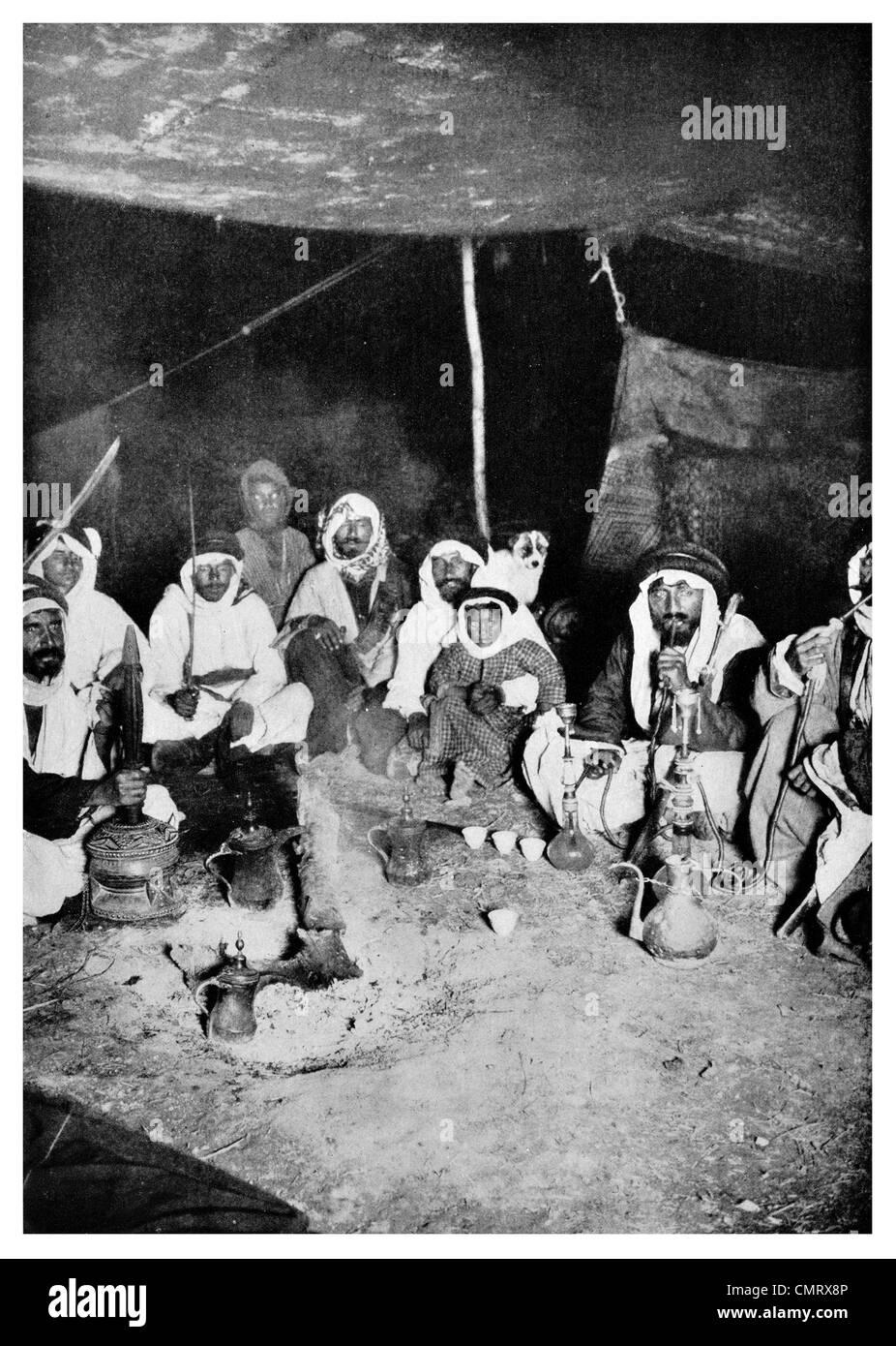 1919 Arab camp at Mount Sinai - Stock Image
