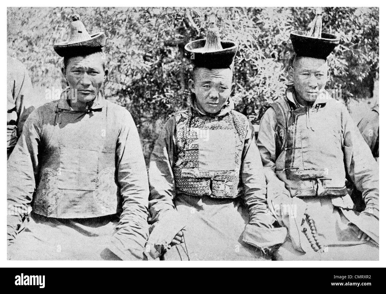 1923 Mongolian Police officers - Stock Image